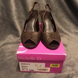 Michelle D sling back heels